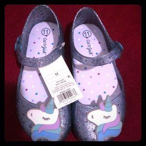 Cat & Jack Unicorn sparkling sandals